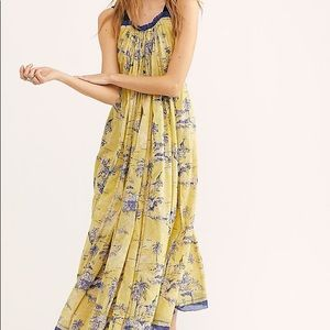 Free People NWT Tropical Toile Maxi Dress Jungle